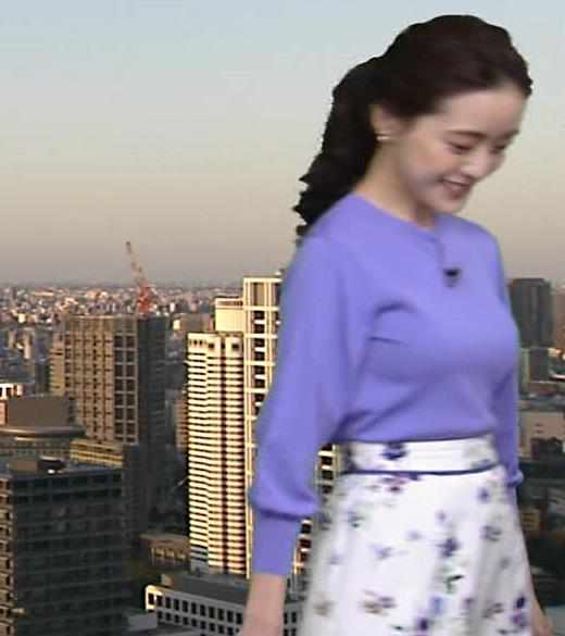 古谷有美アナ おっぱいを潰すところキャプ・エロ画像8