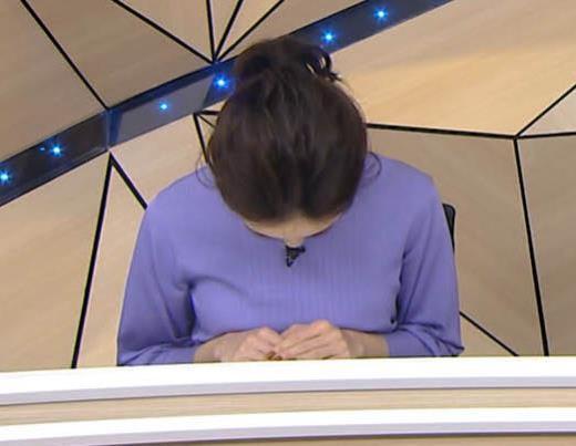 古谷有美アナ おっぱいを潰すところキャプ画像(エロ・アイコラ画像)