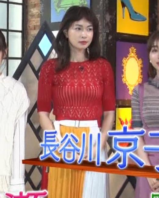 長谷川京子 ピチピチな衣装のエロ過ぎおっぱいキャプ・エロ画像