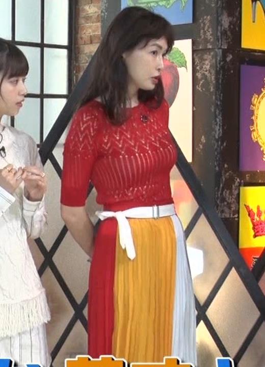 長谷川京子 ピチピチな衣装のエロ過ぎおっぱいキャプ・エロ画像5