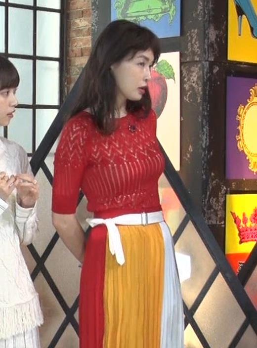 長谷川京子 ピチピチな衣装のエロ過ぎおっぱいキャプ・エロ画像6
