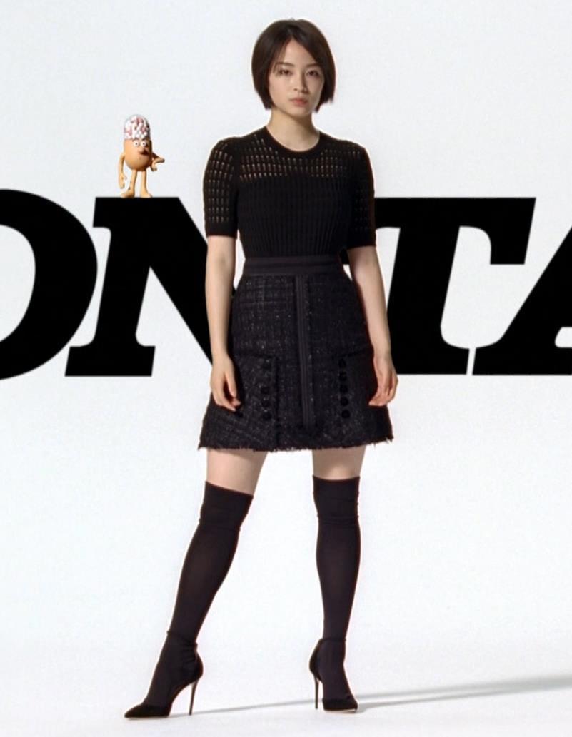 広瀬すず ミニスカ太もも&ニーハイソックスキャプ・エロ画像