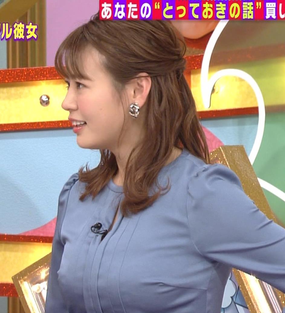 井口綾子 セクハラに負けて胸元見せ&縄跳び乳揺れキャプ・エロ画像