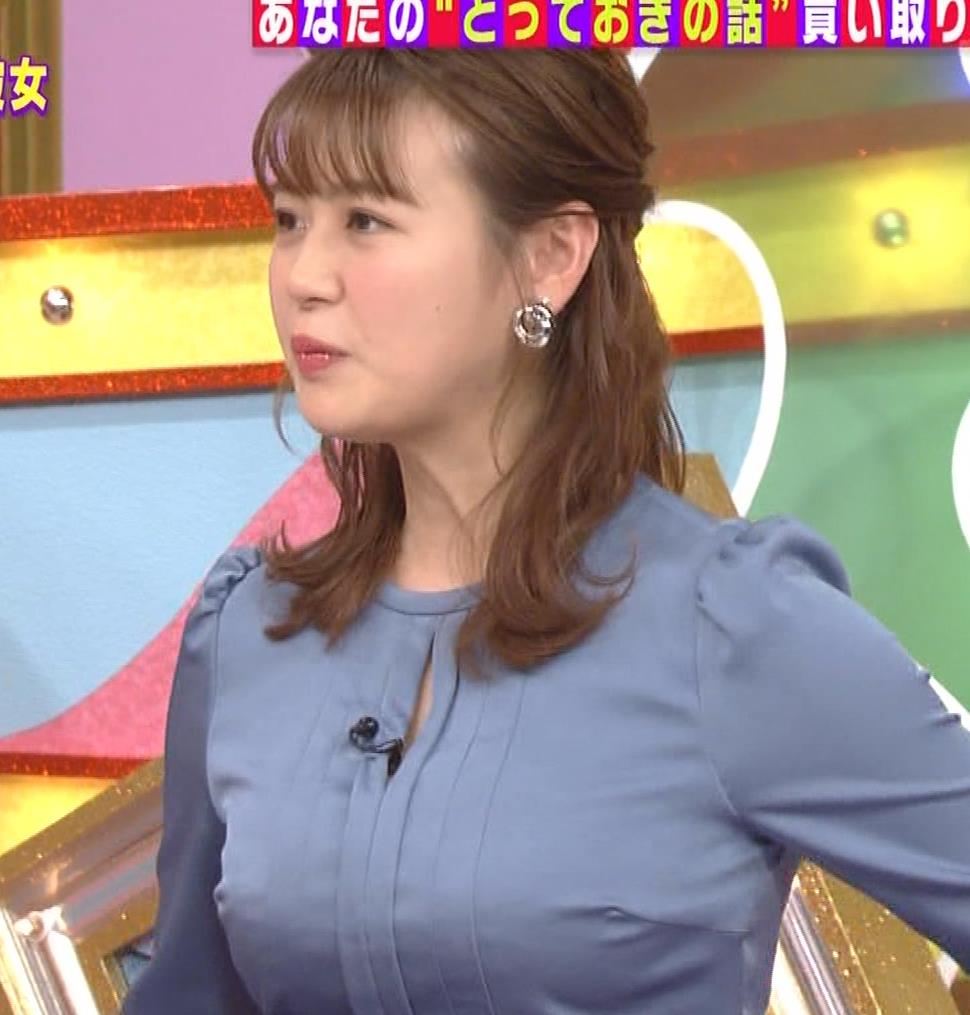 井口綾子 セクハラに負けて胸元見せ&縄跳び乳揺れキャプ・エロ画像2