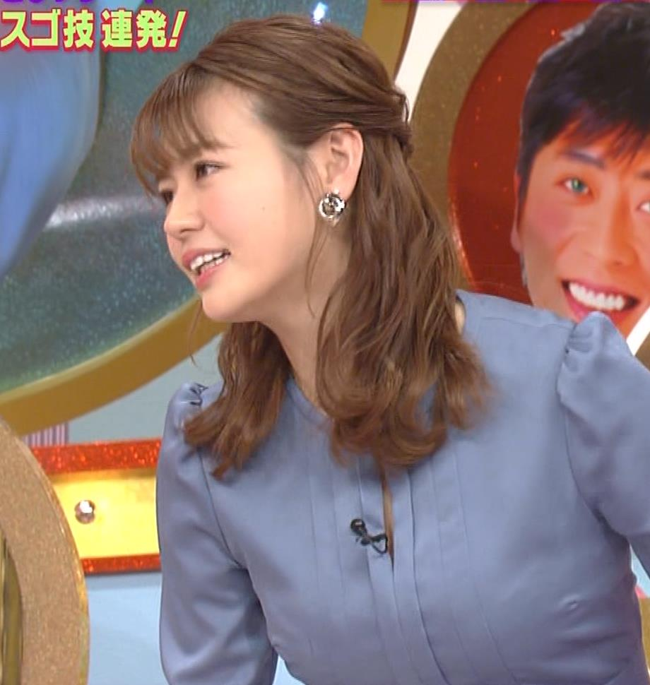 井口綾子 セクハラに負けて胸元見せ&縄跳び乳揺れキャプ・エロ画像11