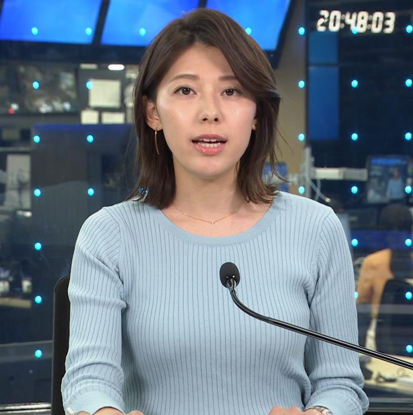上村彩子アナ ニットおっぱいキャプ・エロ画像4