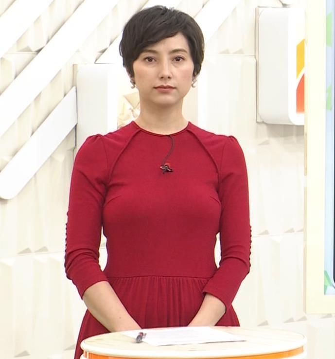 加藤シルビア ピチピチな衣装を着る巨乳女子アナキャプ・エロ画像