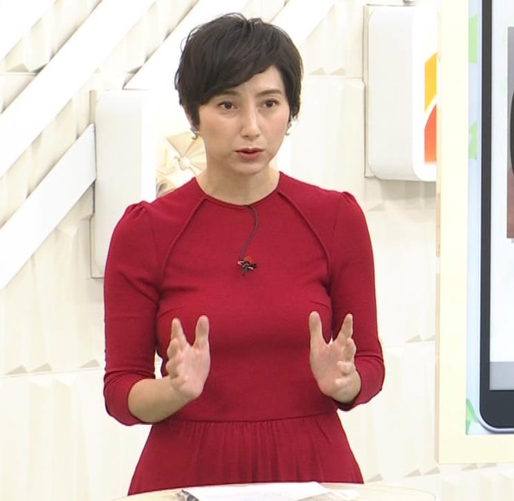 加藤シルビア ピチピチな衣装を着る巨乳女子アナキャプ・エロ画像5