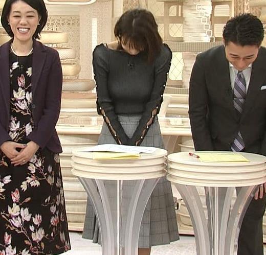 加藤綾子 垂れ乳?エロかっこいい衣装(ブラ紐ちら)キャプ・エロ画像15