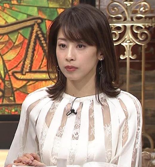 加藤綾子 透け透け衣装キャプ画像(エロ・アイコラ画像)