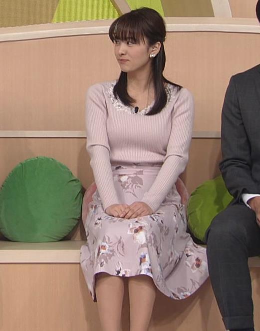 河出奈都美 美人女子アナのエロいニットキャプ・エロ画像2