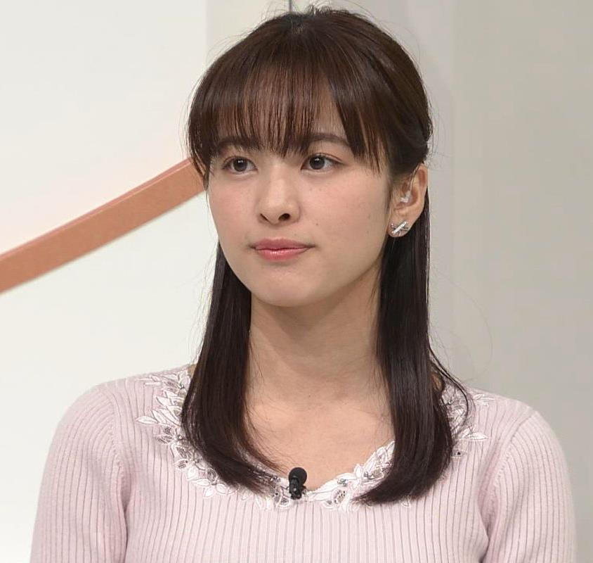 河出奈都美 美人女子アナのエロいニットキャプ・エロ画像7