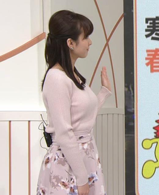 河出奈都美 美人女子アナのエロいニットキャプ画像(エロ・アイコラ画像)