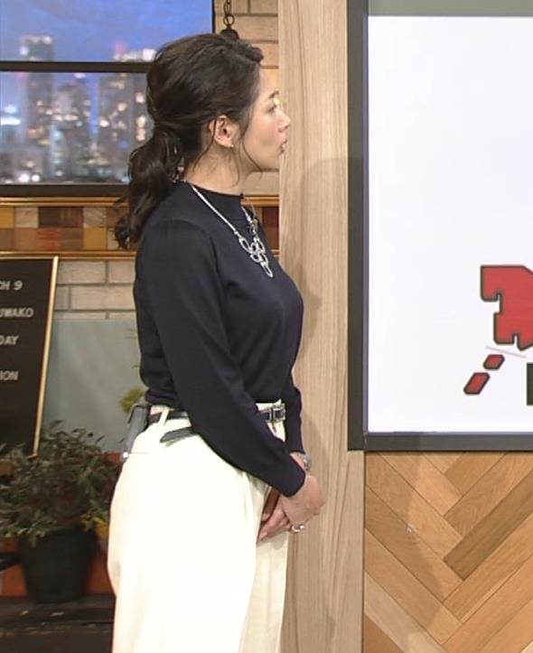 桑子真帆アナ 横乳がすごかったよキャプ・エロ画像9