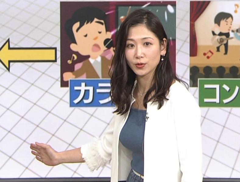 桑子真帆アナ 巨乳が猛アピールしてたよキャプ・エロ画像11