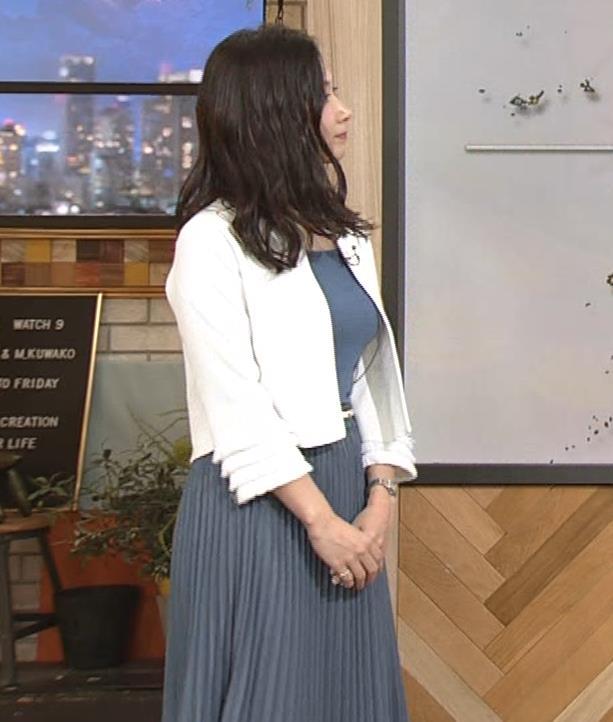 桑子真帆アナ 巨乳が猛アピールしてたよキャプ・エロ画像13