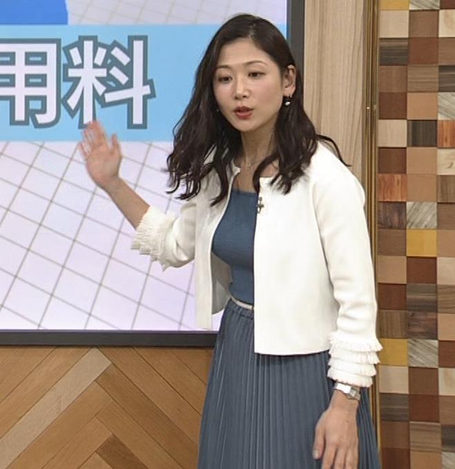桑子真帆アナ 巨乳が猛アピールしてたよキャプ・エロ画像8