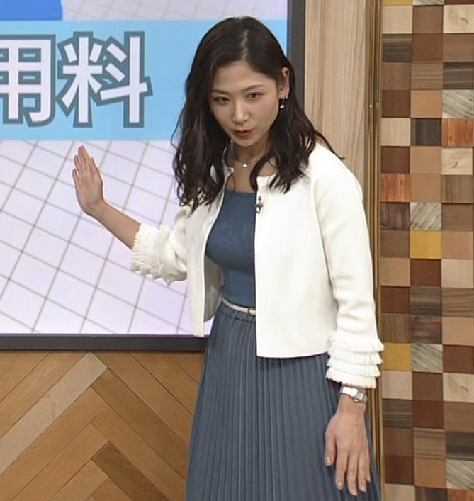 桑子真帆アナ 巨乳が猛アピールしてたよキャプ・エロ画像9