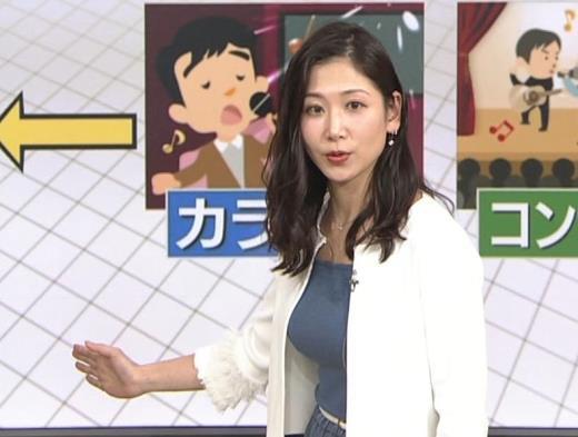 桑子真帆アナ 巨乳が猛アピールしてたよキャプ画像(エロ・アイコラ画像)
