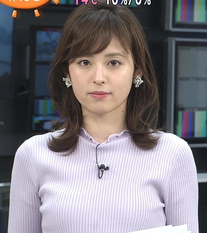 久慈暁子アナ エロかわいいニットおっぱいキャプ・エロ画像2
