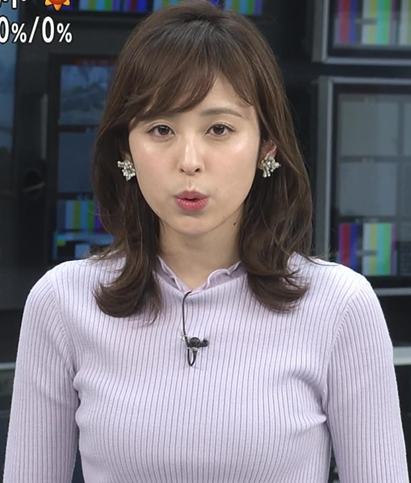 久慈暁子アナ エロかわいいニットおっぱいキャプ・エロ画像3