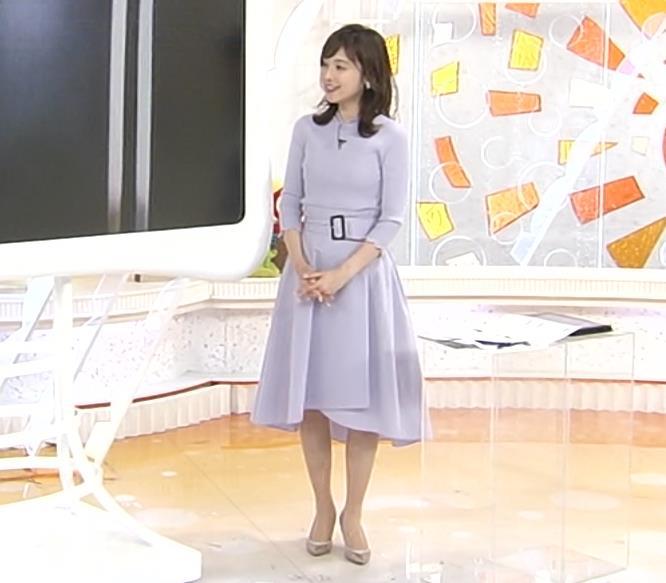 久慈暁子アナ エロかわいいニットおっぱいキャプ・エロ画像5