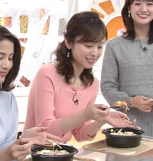 久慈暁子アナ エッチ過ぎなニットおっぱいキャプ・エロ画像6