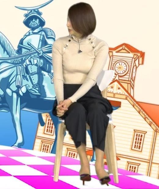 眞鍋かをり ニットおっぱいキャプ画像(エロ・アイコラ画像)