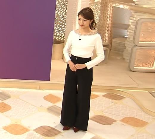 三田友梨佳アナ 新婚さんのピチピチな服キャプ・エロ画像