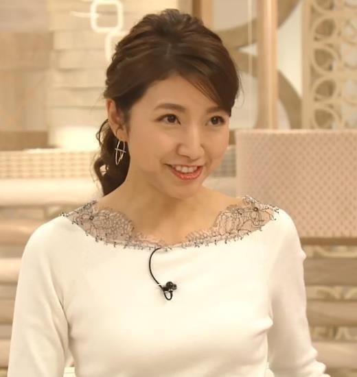 三田友梨佳アナ 新婚さんのピチピチな服キャプ画像(エロ・アイコラ画像)