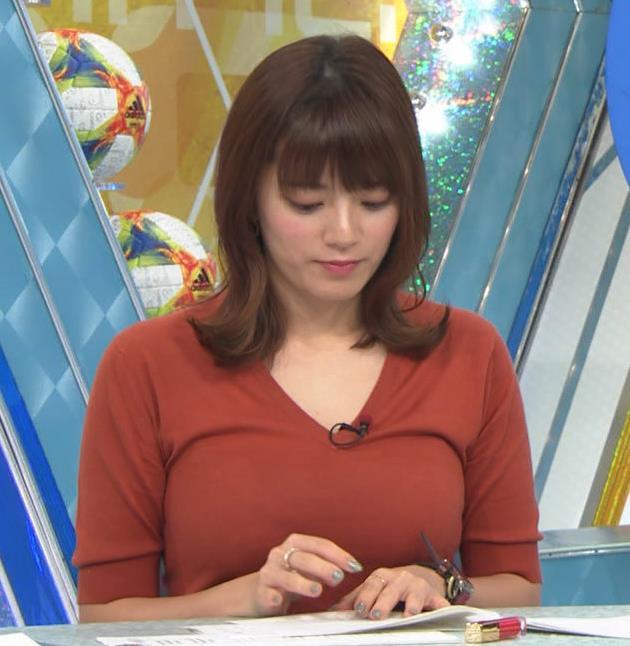 三谷紬アナ 巨乳がピチピチな服キャプ・エロ画像6