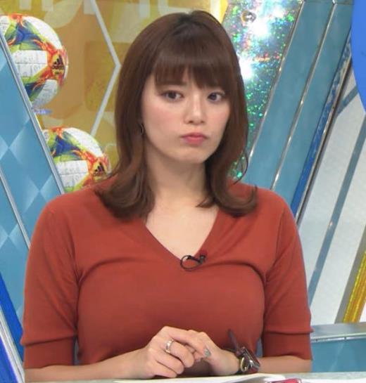 三谷紬アナ 巨乳がピチピチな服キャプ画像(エロ・アイコラ画像)