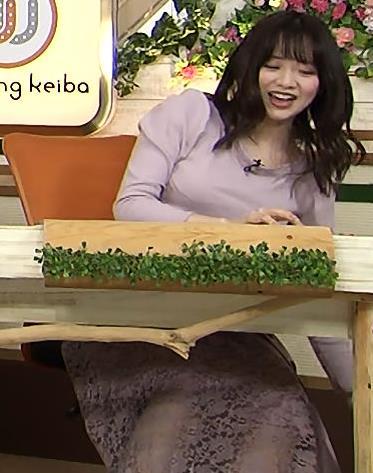 森香澄アナ 巨乳を押しつぶす競馬番組キャプ・エロ画像6