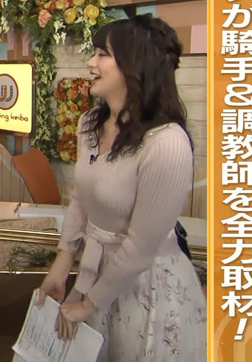 森香澄アナ エロかわいいニットおっぱいキャプ・エロ画像