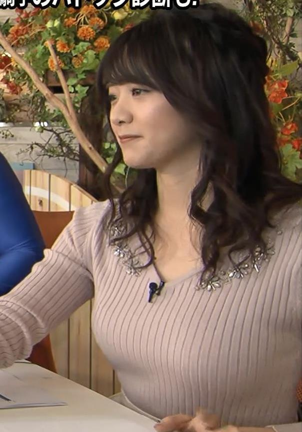 森香澄アナ エロかわいいニットおっぱいキャプ・エロ画像4