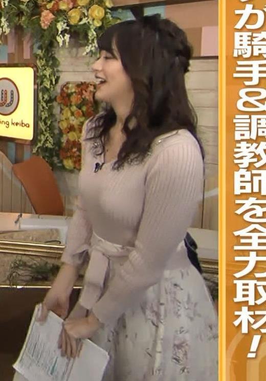 森香澄アナ エロかわいいニットおっぱいキャプ画像(エロ・アイコラ画像)