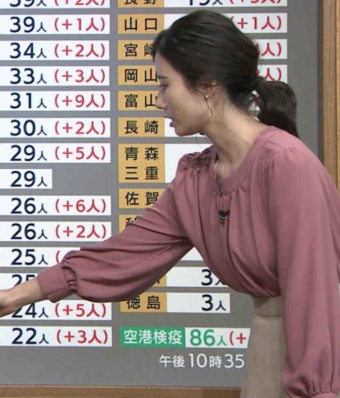 森川夕貴アナ 巨乳を隠さなくなってエロさMAXキャプ・エロ画像13
