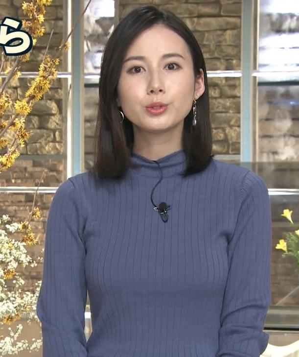 森川夕貴アナ エチエチなニットおっぱいキャプ・エロ画像
