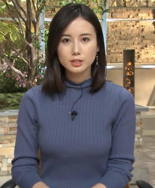 森川夕貴アナ エチエチなニットおっぱいキャプ・エロ画像5