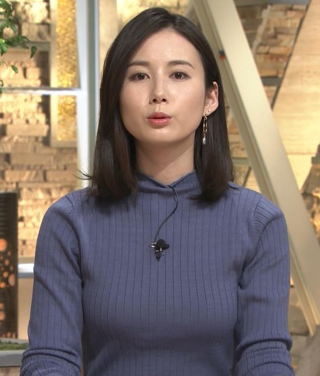 森川夕貴アナ エチエチなニットおっぱいキャプ・エロ画像6