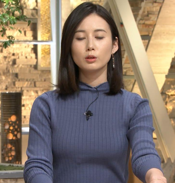森川夕貴アナ エチエチなニットおっぱいキャプ・エロ画像7