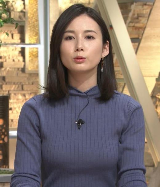 森川夕貴アナ エチエチなニットおっぱいキャプ画像(エロ・アイコラ画像)