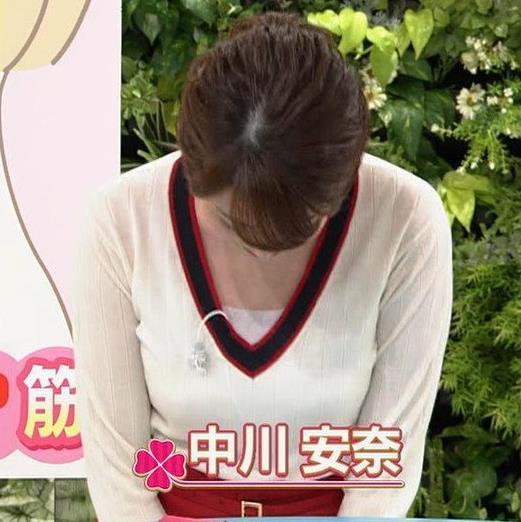 中川安奈アナ NHKの若手おっぱいアナキャプ・エロ画像