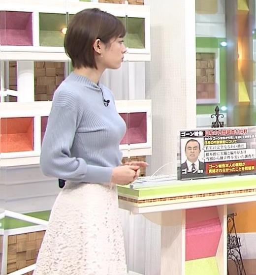 中西悠理アナ 横乳エロ過ぎキャプ画像(エロ・アイコラ画像)