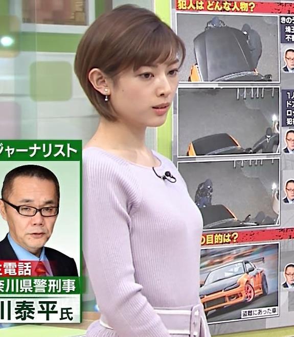 中西悠理アナ ニットおっぱいキャプ・エロ画像3