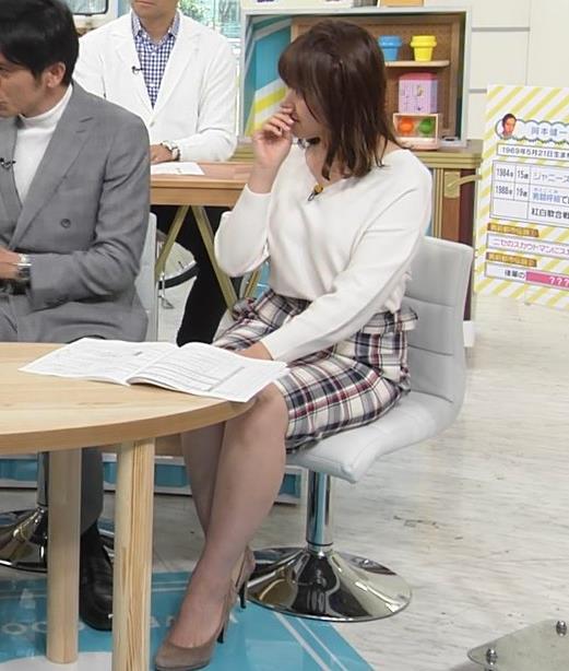 尾崎里紗アナ ミニスカ美脚キャプ・エロ画像4