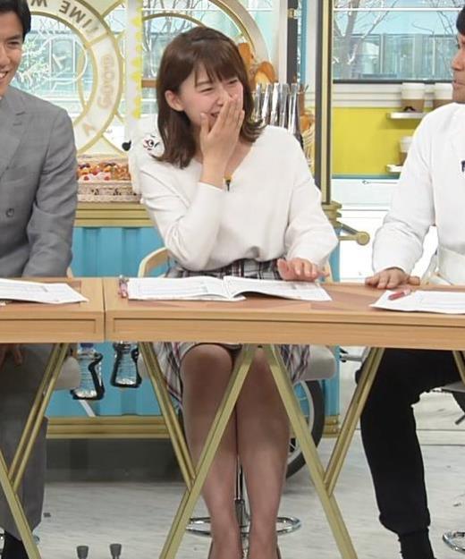 尾崎里紗アナ ミニスカ美脚キャプ画像(エロ・アイコラ画像)
