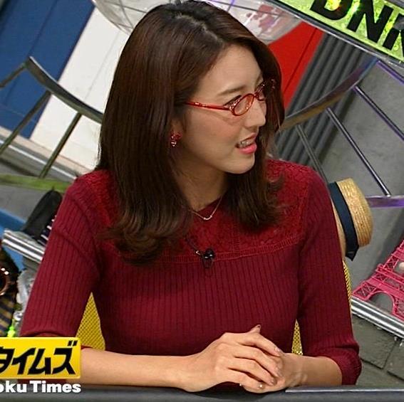 小澤陽子アナ 横乳でデカさを再認識キャプ・エロ画像