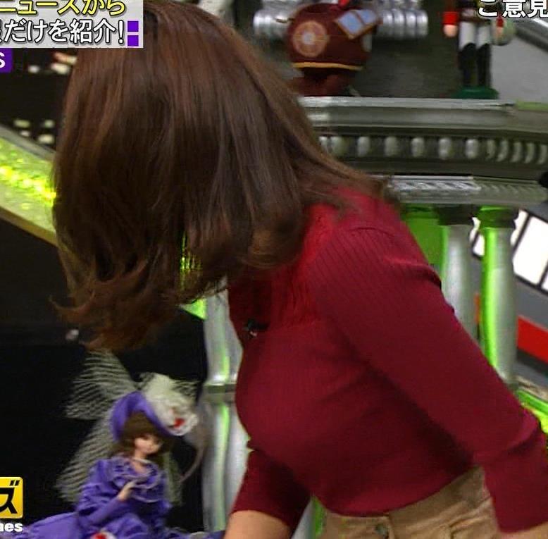 小澤陽子アナ 横乳でデカさを再認識キャプ・エロ画像3