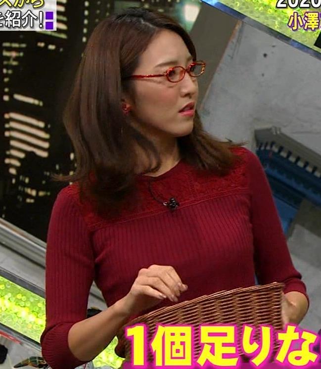 小澤陽子アナ 横乳でデカさを再認識キャプ・エロ画像4